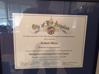 background investigations certificate