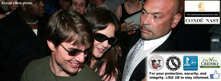 Tom Cruise protected by Wincor Bodyguards